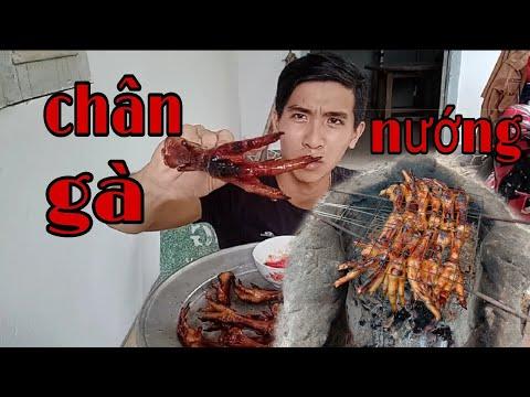 Chân Gà Nướng Chấm Muối Ớt Chanh Siêu Cay – Khánh Luân Vlogs