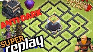 Th9 Farming Base Anti Dark Elixir & Anti Giant With Replays