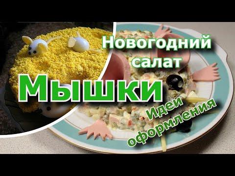 новогодний салат 2020 Мышки - Идеи оформления новогоднего стола - мышки на сыре