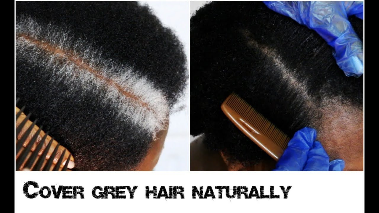 How To Cover New White Or Grey Hair Growth Into Black