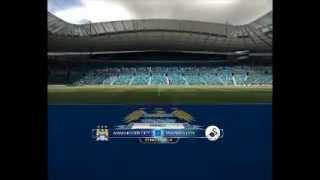 Manchester City Vs Swansea 1-0 All Goals + Highlights / Goal Carlos Tevez (fifa12)
