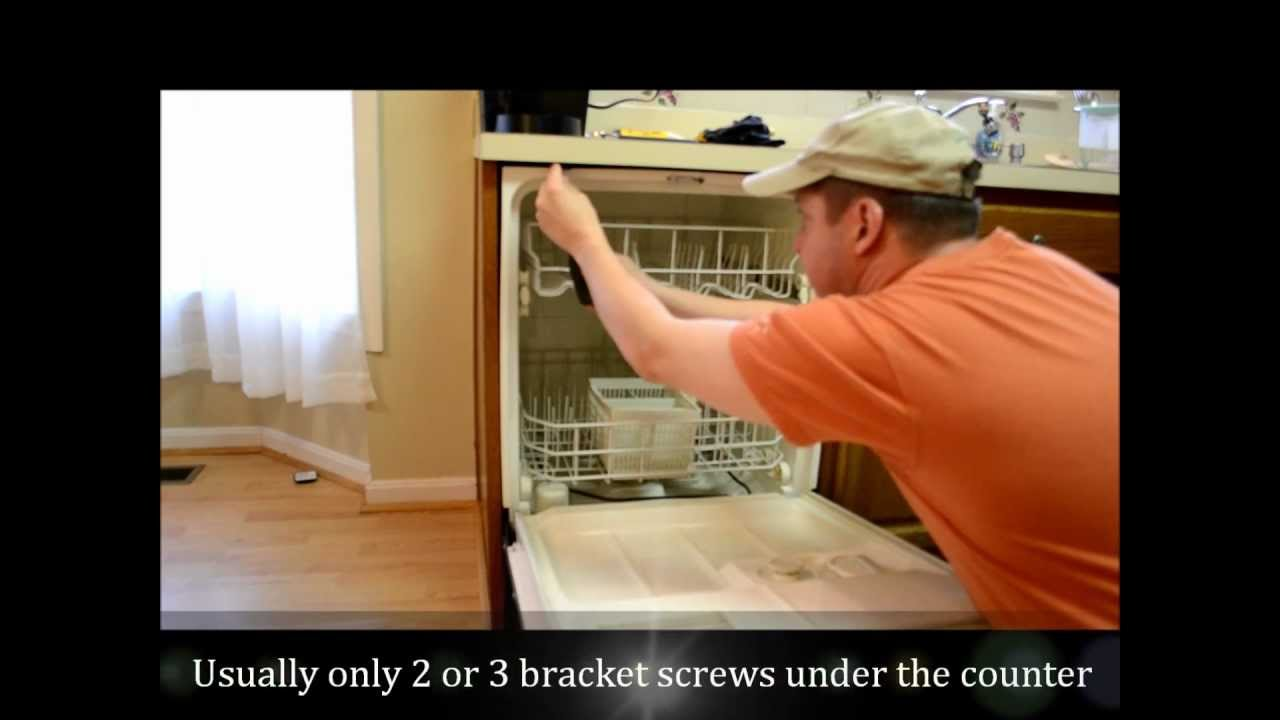 how to remove replace a dishwasher part i removal youtube. Black Bedroom Furniture Sets. Home Design Ideas