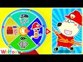 Wolfoo Playing Professions with Magic Wheel: Police, Firefighter, Doctor | Wolfoo Channel