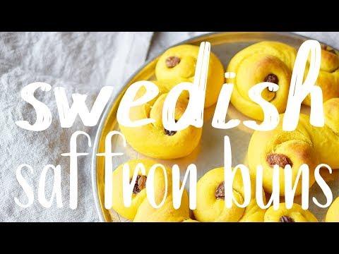 Traditional Swedish Lussebullar - Vegan saffron buns