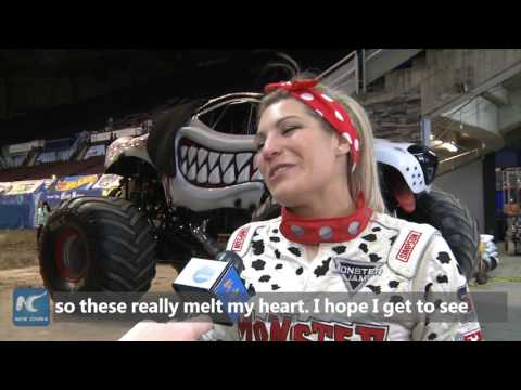 """These really melt my heart!"" Meet Canada's first female Monster Jam driver"