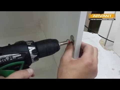 Установка газлифтов на кухонные фасады (ARVANT)