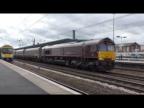 Class 66's working through Doncaster.