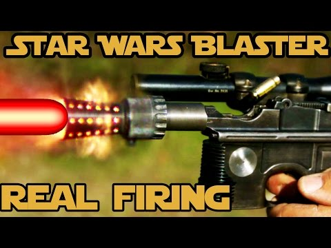 REAL FIRING STAR WARS BLASTER! WORLD RECORD 6 shots in 0.8 seconds with Han Solo's DL-44!