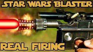 real firing star wars blaster world record 6 shots in 0 8 seconds with han solo s dl 44