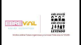 "Vinilos online Frases ingeniosas y curiosas ""Este eres tú"" 03245"