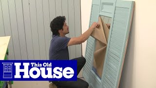 How To Build A Shutter Mirror - This Old House