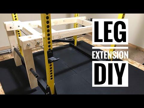 Leg Extension DIY - Bells of Steel Squat Rack Add-on