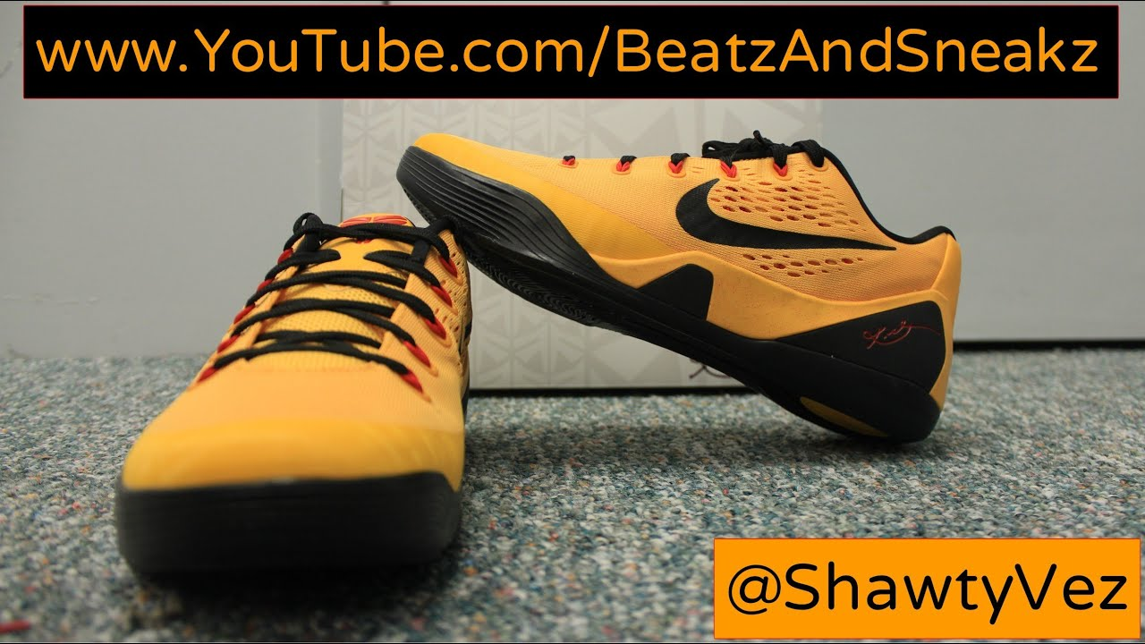 ec5be9a848e Nike Kobe IX EM Bruce Lee Review - YouTube