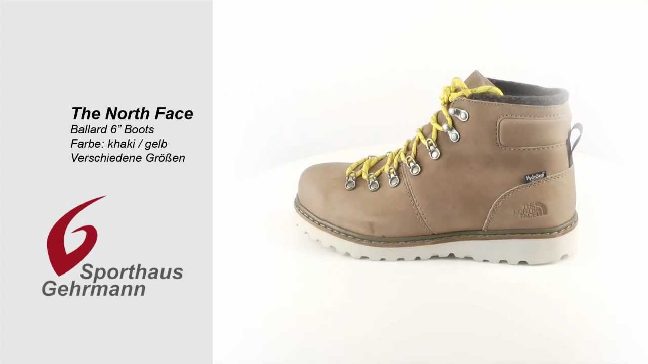 new products cc84f e579e North Face Ballard 6´´Boots / Stiefel, classic khaki/leopard yellow -  khaki/gelb