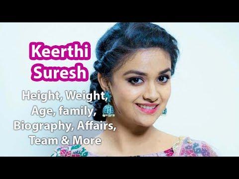 keerthy suresh height age bio family youtube