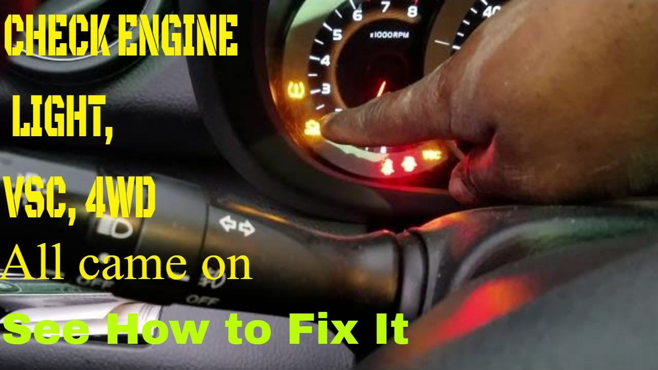 07 Toyota Rav4 VSC,4WD and check engine lights on part 2