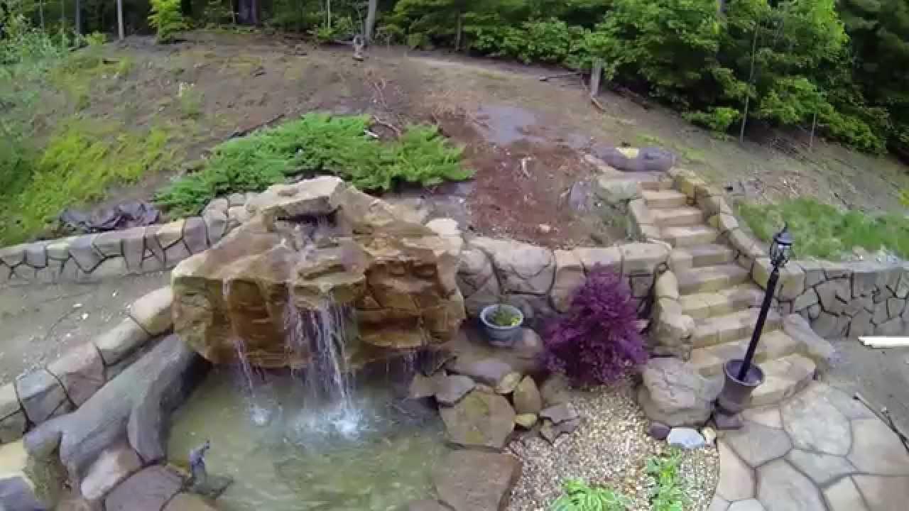 Backyard Waterfalls - Building Montage - YouTube