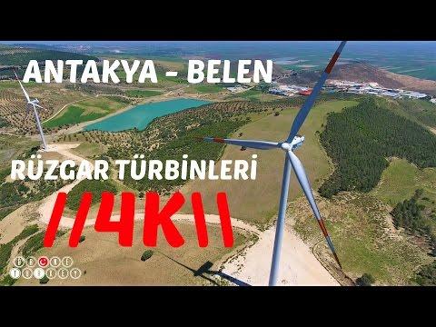 ANTAKYA - BELEN Topboğazı Köyü RÜZGAR TÜRBİNLERİ 4K