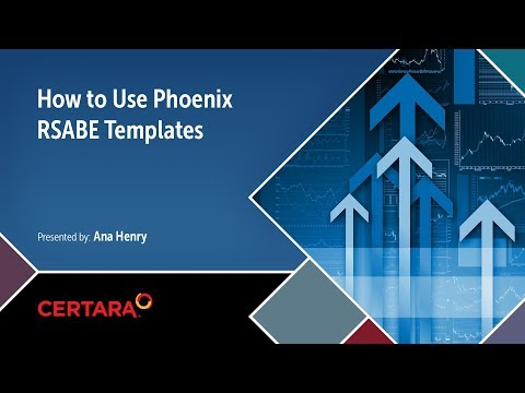 How to Use Phoenix RSABE Templates