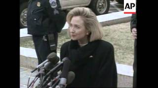 USA: ANOTHER BLOW TO THE CLINTONS FROM THE ONGOING WHITEWATER SAGA