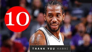 Kawhi Leonard Top 10 Plays With the San Antonio Spurs
