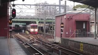 名鉄1700/2300系1701Fトップナンバー! 特急中部国際空港行き 金山駅停車