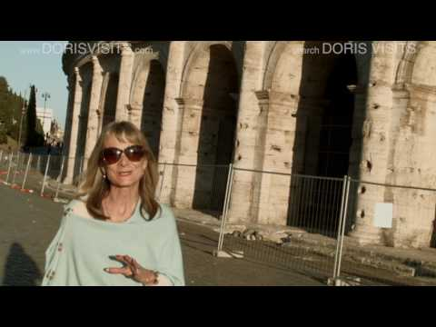 Rome City Guide. Colosseum. Jean films for Cruise Doris Visits