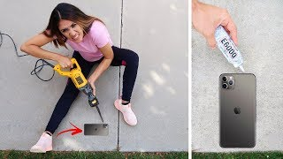 iPhone 11 Glued To The Floor PRANK!! | Jancy Family