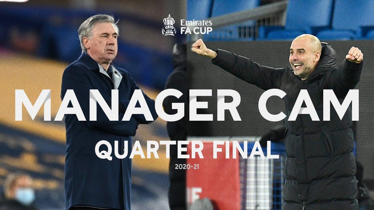Ancelotti v Guardiola | MANAGER CAM | Everton v Manchester City | Quarter Final