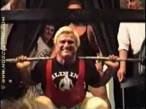 Tom Platz:  23 Reps   @  ~ 525lb / 238kg   Squat