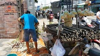 Amazing sugarcane cutting skills - ...