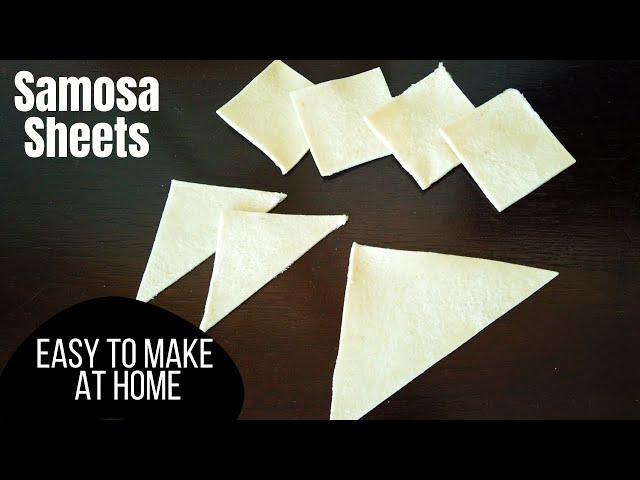Samosa Pastry Patti Strips Made With Bread | Desert Food Feed