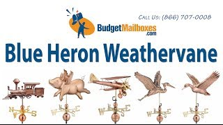 Budgetmailboxes.com | Good Directions 9606p Blue Heron Weathervane - Polished Copper
