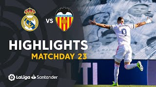 Highlights Real Madrid vs Valencia CF (2-0)