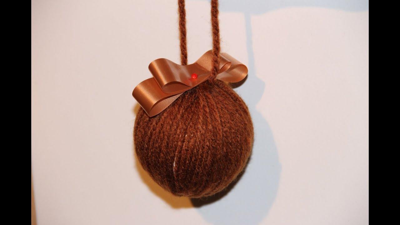 cmo hacer bolas para el rbol de navidad con lana
