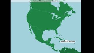 North and Central America: Countries (A-Z)
