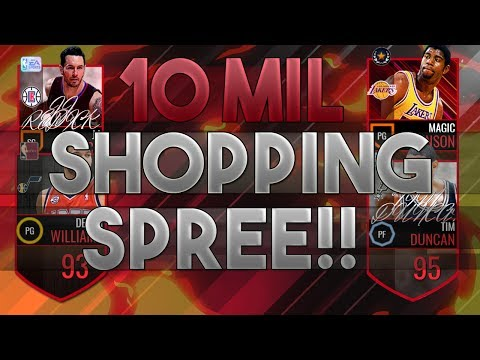10 MILLION COIN SHOPPING SPREE!!!!!! INSANE PICKUPS!! 93 RATING FRANCHISE | NBA LIVE MOBILE