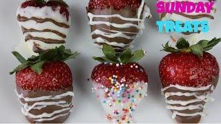 Chocolate Cover Strawberries  With Rainbow Sprinkles-sunday Treats b2cutecupcakes