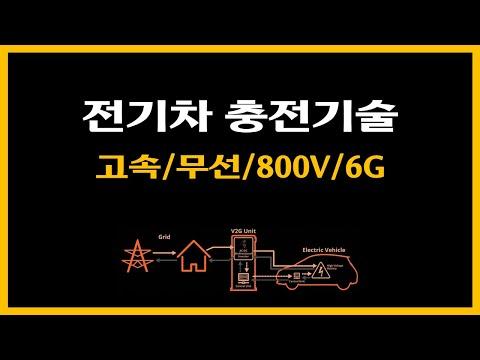 전기차 충전기술, 고속/무선/800V/6G