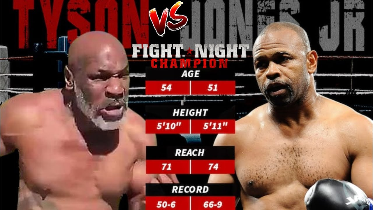 mike tyson vs roy jones jr official exhibition fight on sept 12th fight night simulation youtube mike tyson vs roy jones jr official exhibition fight on sept 12th fight night simulation