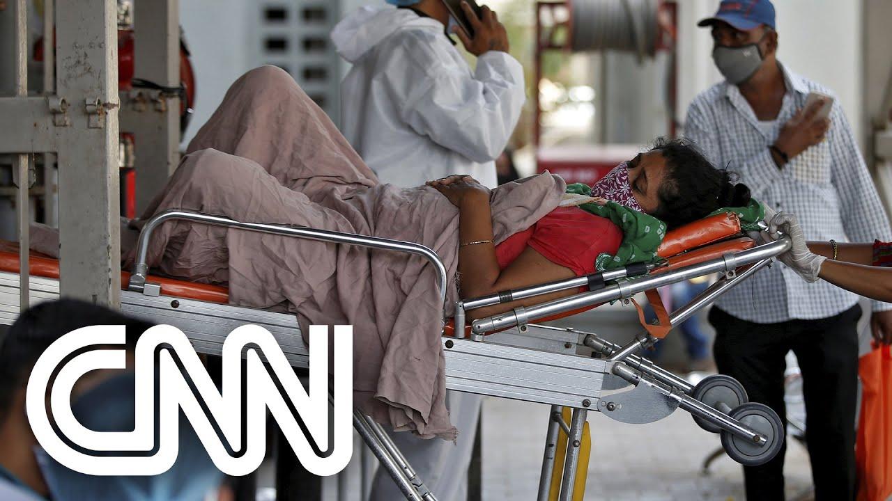 Índia tem quase 300 mil casos diários de Covid-19 | CNN PRIME TIME