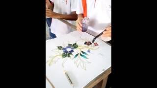 batik painting lessons {staring:Yuan Xun video taken by:Soh Hong Yu}