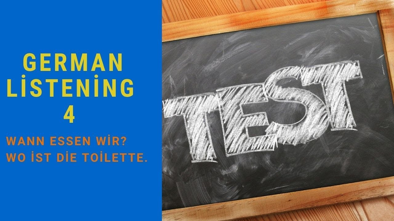 GERMAN LİSTENİN 4 | DEUTSCH HÖREN |