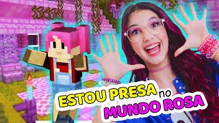 FIQUEI PRESA no MUNDO ROSA no MINECRAFT do PLAYSTATION | Luluca