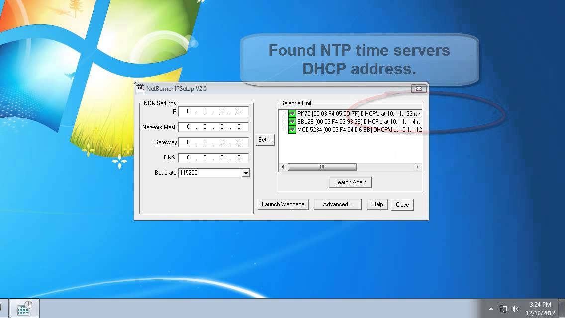 NTP Network Time Server Setup (Windows 7)