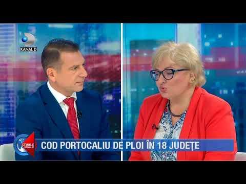 Stirile Kanal D (09.07.2018) - Cod portocaliu de ploi in 18 judete!  Editie COMPLETA