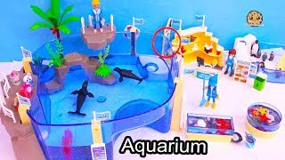 Shopkins Go To Aquarium - Playmobil Water Animal Park Toy Video