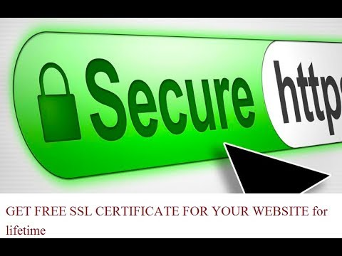 GET FREE SSL CERTIFICATE FOR YOUR WEBSITE for lifetime - YouTube