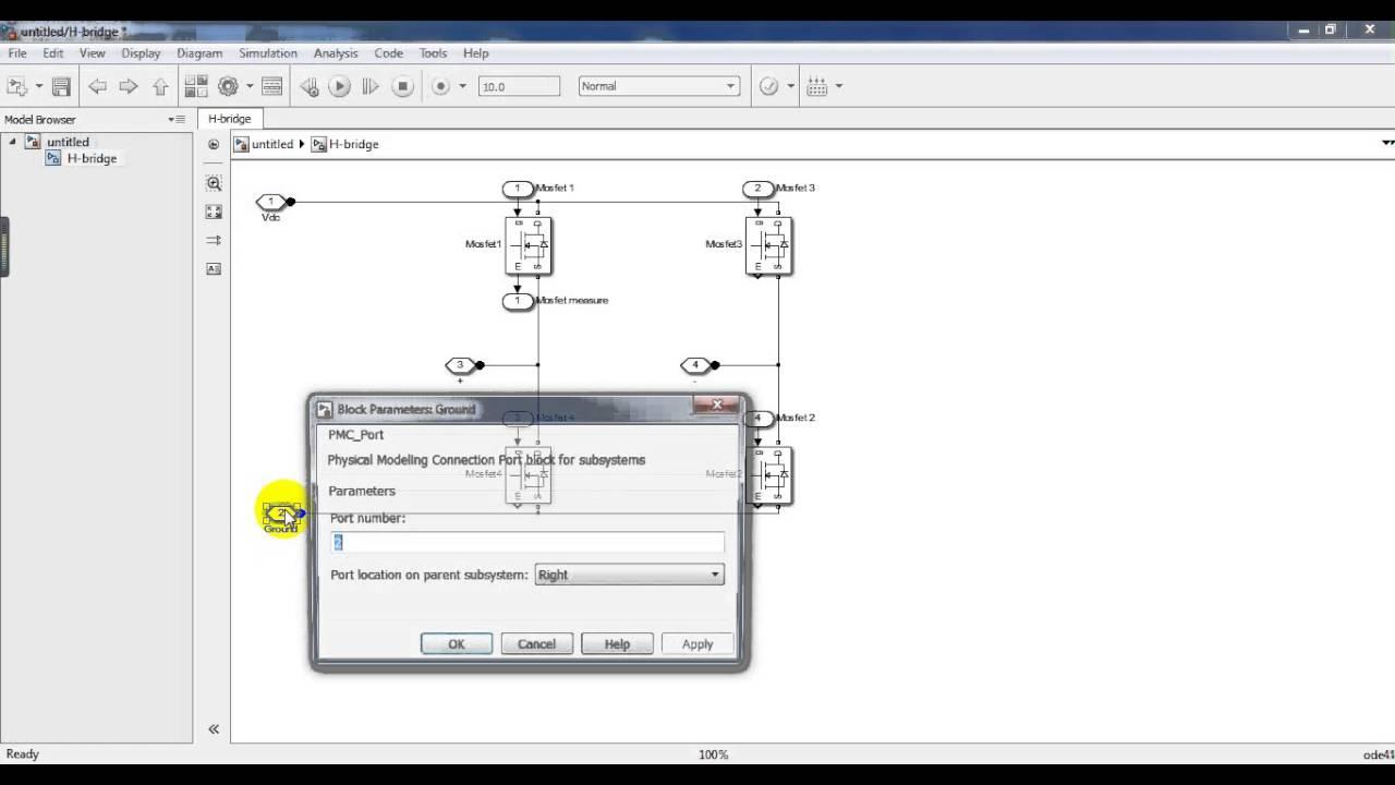 Create H Bridge As Subsystem Block For Multi Level Inverter Matlab Diagram Simulink