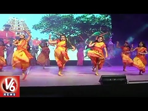 Children Dance To V6 Bonalu Song At Abids Slate School Annual Day Celebrations | V6 News